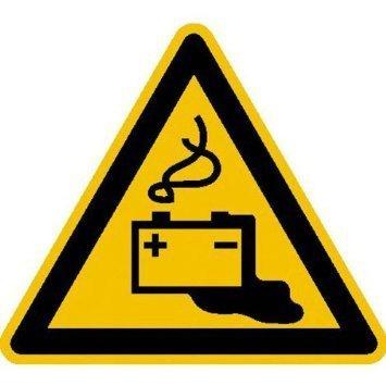 Warnung vor Gefahren durch Batterien - 31,50cm DE934