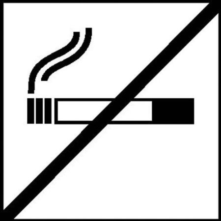 Rauchen verboten - 10x10cm DE717
