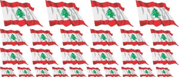 Mini Aufkleber Set - Libanon