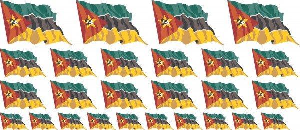 Mini Aufkleber Set - Mosambik