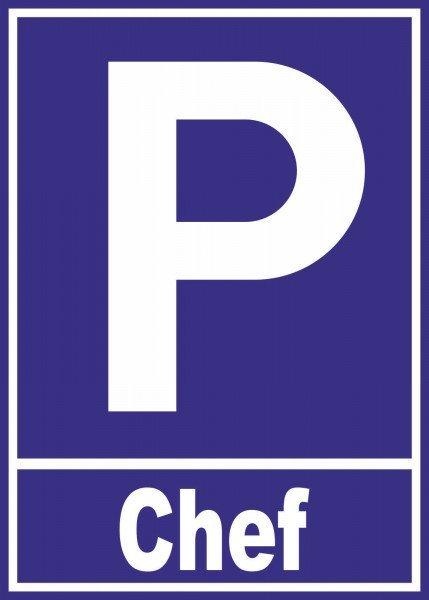 Parkplatzschild - Reserviert - 21x15 cm