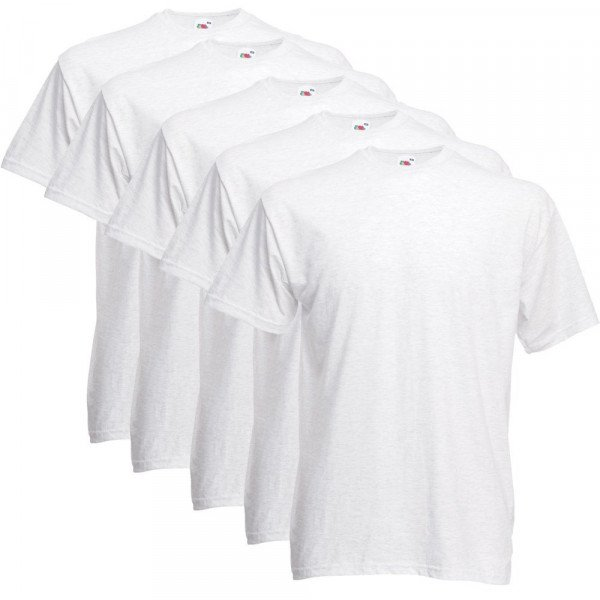 Fruit of the Loom T-Shirts 5er Pack - Super Premium T