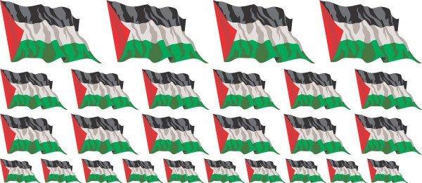 Mini Aufkleber Set - Palestina