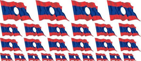 Mini Aufkleber Set - Laos