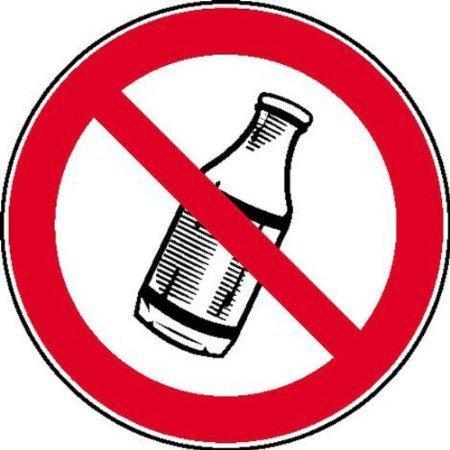 Flaschen hinauswerfen verboten Verbotsschild, Büro Sicherheit 20cm DE535
