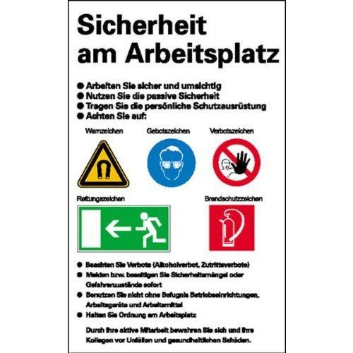 Sicherheitsaushang Sicherheit am Arbeitsplatz - 48x72cm DE166