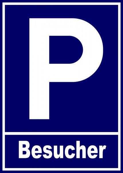 Parkplatzschild - Besucher - 21x15 cm