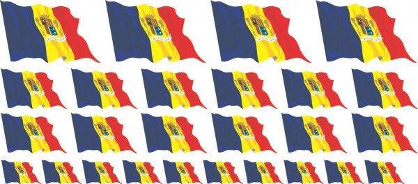 Mini Fahnen / Flaggen - Andorra