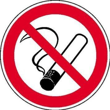 Rauchen verboten Aufkleber Verbotsschild - 40cm DE791