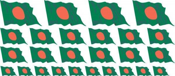 Mini Fahnen / Flaggen - Bangladesch