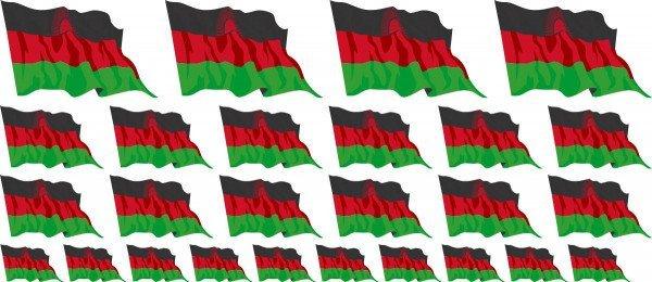 Mini Aufkleber Set - Malawi