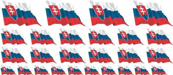 Mini Aufkleber Set - Slowakei