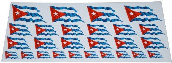 Mini Fahnen / Flaggen Kuba