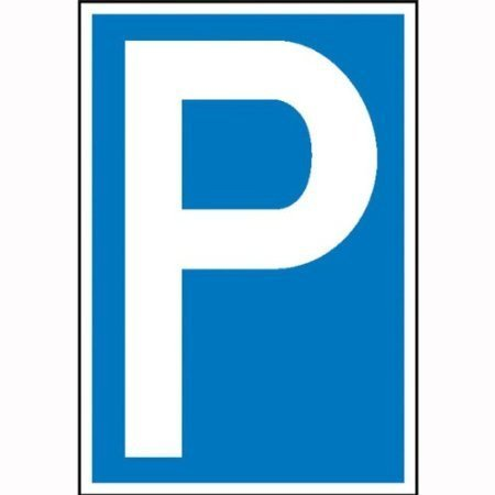 Parkplatzschild Symbol: P - 25x40cm DE291