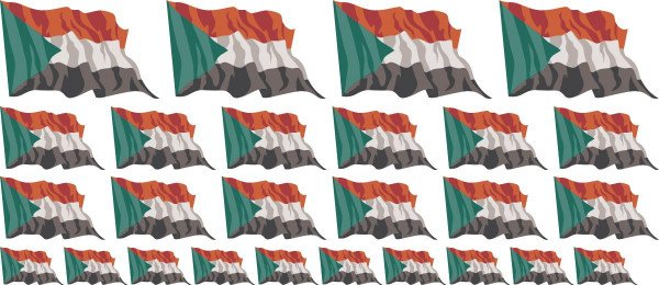 Mini Aufkleber Set - Sudan