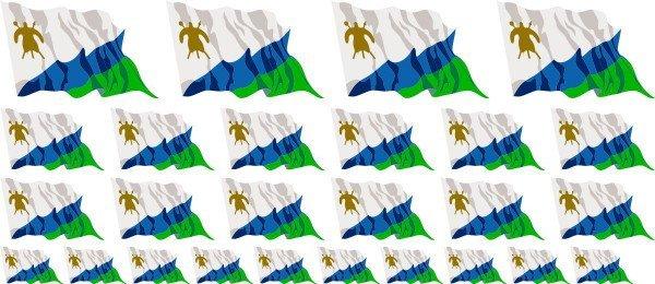 Mini Aufkleber Set - Lesotho