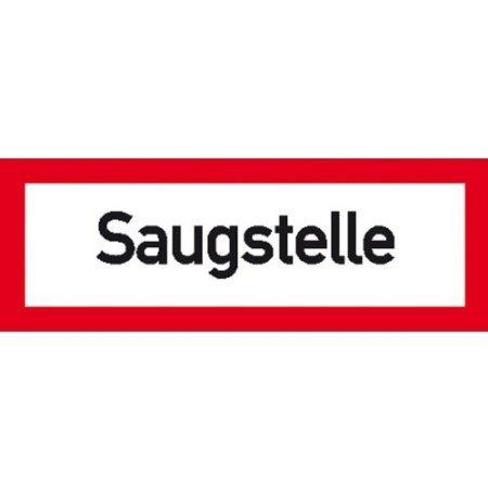 Hinweisschild für den Brandschutz Saugstelle - 29,70x10,50cm DE453