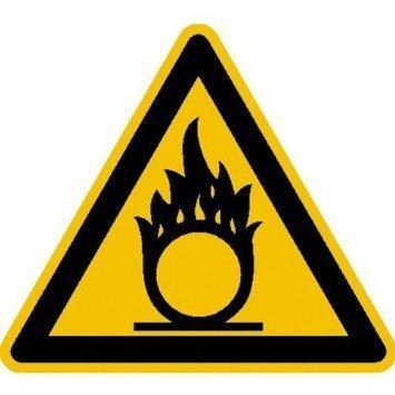 Warnung vor brandfördernden Stoffen - 20cm DE910