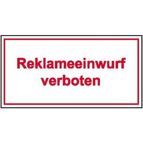 Reklameeinwurf verboten - 10x4cm DE26