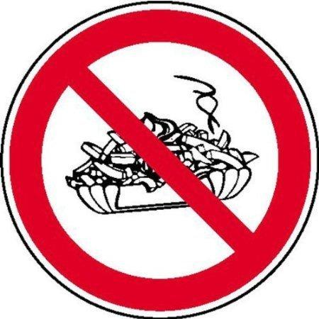 Pommesverbot Verbotsschild, Büro Sicherheit Größe - 20cm DE714
