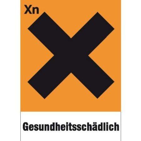 Gefahrsymbol Einzelschild - 7,40x10,50cm DE487