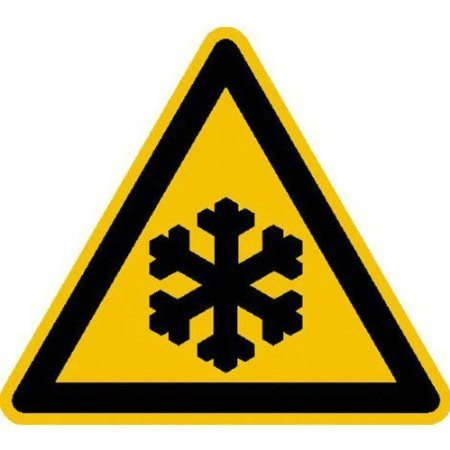 Warnung vor Kälte Warnschild, Büro Sicherheit - 31,5cm DE495
