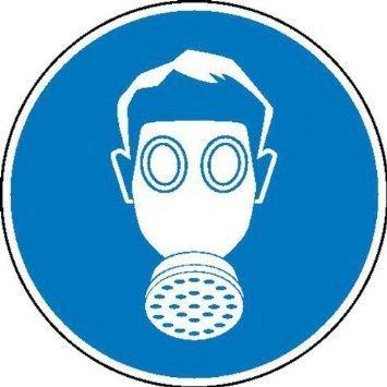 Atemschutz benutzen Gebotsschild - 10cm DE841