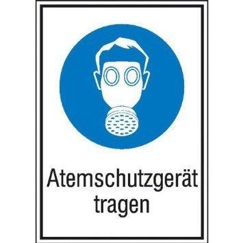 Atemschutzgerät tragen Gebotsschild - 13,10x18,50cm DE749