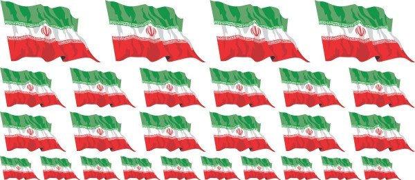 Mini Aufkleber Set - Iran