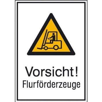 Vorsicht! Flurförderzeuge - 13,10x18,50cm DE797