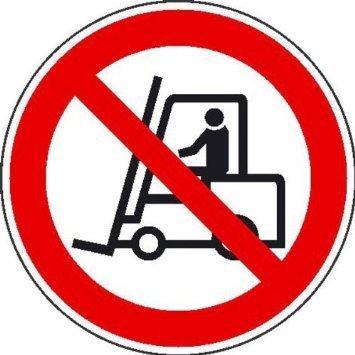 Für Flurförderzeuge verboten Verbotsschild - 40cm DE752