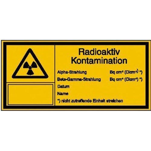 Strahlenschutz Radioaktiv Kontamination - 14,80x7,40cm DE126