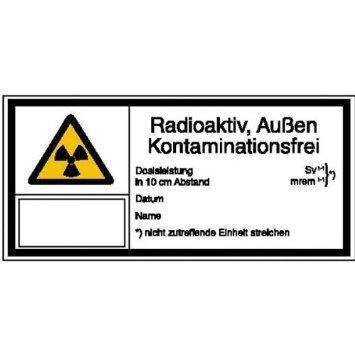Strahlenschutz Radioaktivität - 80x7,40cm DE925