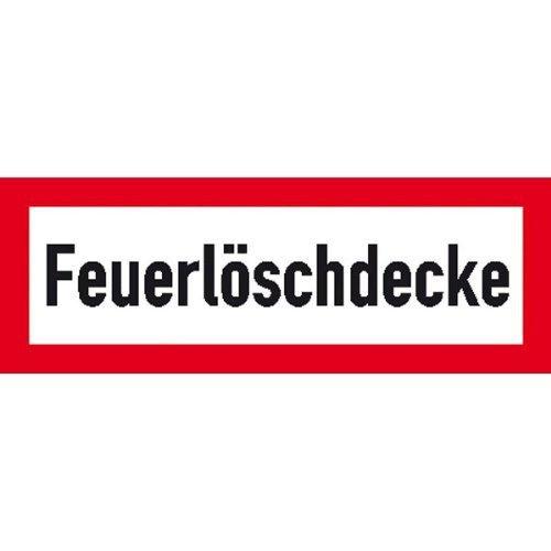 Hinweisschild für den Brandschutz Feuerlöschdecke - 21x7,40cm DE145