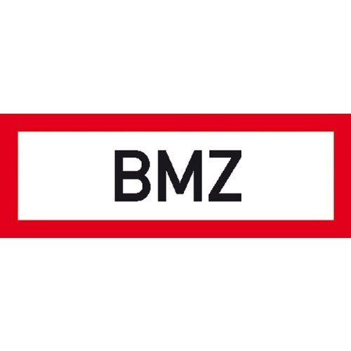 Hinweisschild für den Brandschutz BMZ - 29,7x10,5cm DE91
