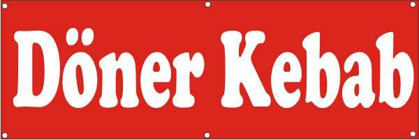 Werbeplane / Gerüstplane - p144 - Döner Kebab - NEU - für Baustelle, Garten, Zaun oder Veranstaltung