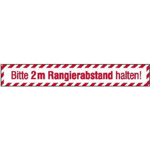 Kfz Bitte 2 m Rangierabstand - 70x10cm DE30