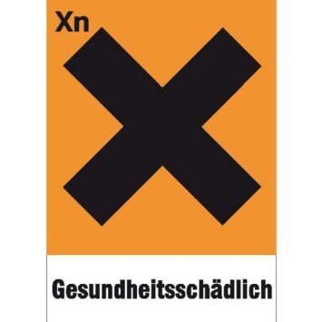 Gefahrsymbol Einzelschild - 20x7,40cm DE763
