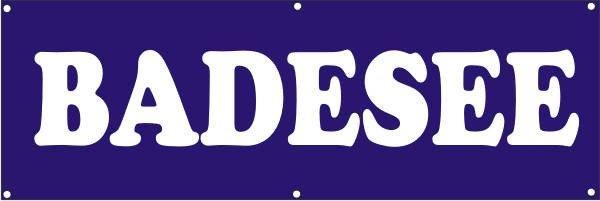 Werbeplane / Gerüstplane - p132 - Badesee - NEU - für Baustelle, Garten, Zaun oder Veranstaltung