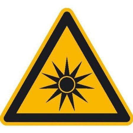 Warnung vor optischer Strahlung Warnschild 10cm DE414