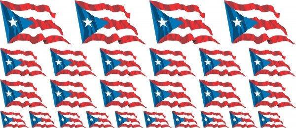 Mini Aufkleber Set - Puerto Rico