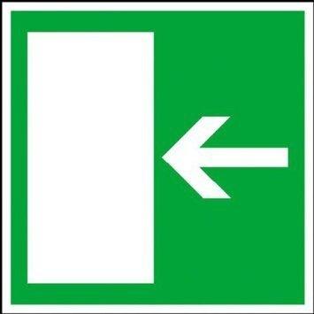 Rettungsweg rechts/links Rettungsschild - 20x20cm DE1007