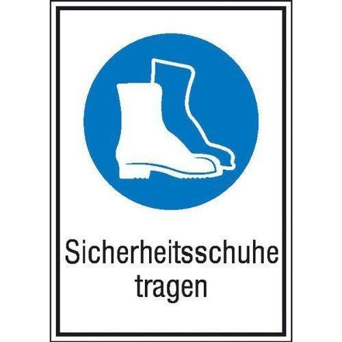 Sicherheitsschuhe tragen Gebotsschild - 13,10x18,50cm DE133