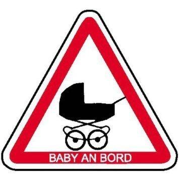 Baby an Bord Hinweisschild für Kraftfahrzeuge - 20cm DE775