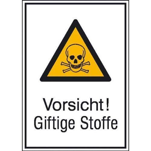 Vorsicht! Giftige Stoffe - 13,10x18,50cm DE137