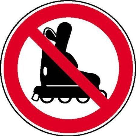 Inline-Skates verboten Verbotsschild, Büro Sicherheit - 20cm DE530