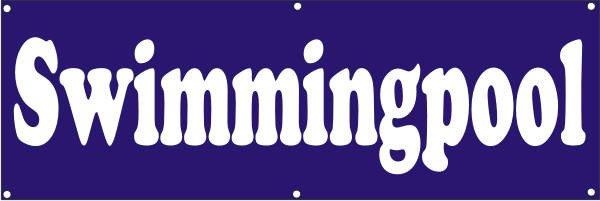 Werbeplane / Gerüstplane - p141 - Swimmingpool - NEU - für Baustelle, Garten, Zaun oder Veranstaltun