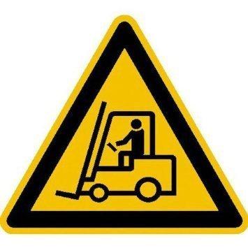 Warnung vor Flurförderzeugen Warnschild - 31,5cm DE837