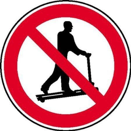 Mit Hubwagen rollen verboten Verbotsschild, Büro Sicherheit 10cm 8