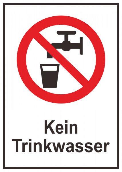 Kein Trinkwasser - 10,50x14,80cm